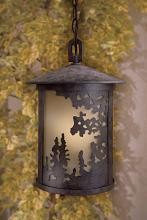 Minka-Lavery 72034-179-PL - One Light Bronze Hanging Lantern
