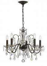 Crystorama 3025-EB - Crystorama Traditional Crystal 5 Light Clear Crystal English Bronze Chandelier