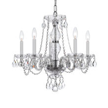 Crystorama 5085-CH-CL-MWP - Crystorama Traditional Crystal 5 Light Crystal Chrome Chandelier V