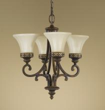Feiss F2221/4WAL - 4- Light Single Tier Chandelier