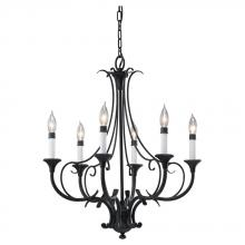 Feiss F2533/6BK - 6- Light Single Tier Chandelier