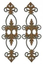 Uttermost 13387 - Uttermost Lacole Rustic Metal Wall Art, Set/2