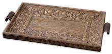 Uttermost 19494 - Uttermost Camillus Wood Framed Decorative Tray