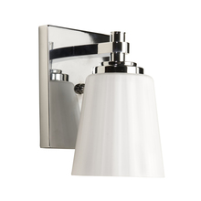 Artcraft AC3771CH - One Light Chrome Satin Acid Frosted Reeded Glass Bathroom Sconce