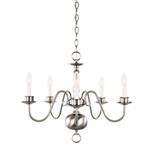 Savoy House 17013-SN - Five Light Satin Nickel Up Chandelier