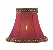 "Lite Source Inc. CH5267-6 - Candelabra Shade/Red Bell - 3""Tx6""Bx5""Sl"
