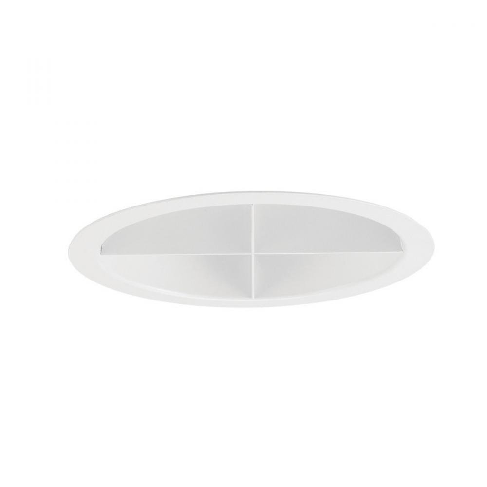 One Light White Recessed Lighting Trim