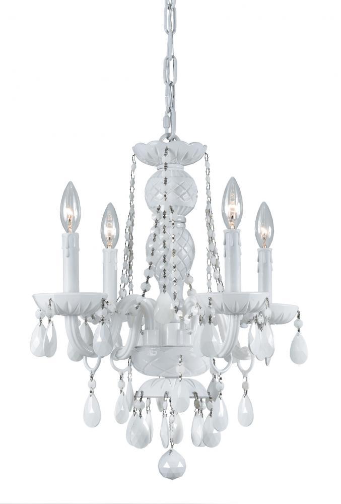 Crystorama envogue 4 light wet white mini chandelier 1074 ww cl s crystorama envogue 4 light wet white mini chandelier aloadofball Gallery