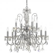 Crystorama 3029-CH - Crystorama Traditional Crystal 12 Light Clear Crystal Chrome Chandelier