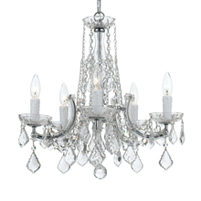 Crystorama 4576-CH-CL-MWP - Crystorama 5 Light Chrome Chandelier