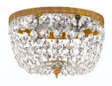 Crystorama 710-OB-CL-I - Crystorama 2 Light Clear Italian Crystal Olde Brass Ceiling Mount
