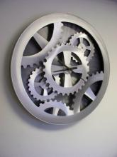 Nova MWC3901-S - Silver Gears Moving Wall Clock