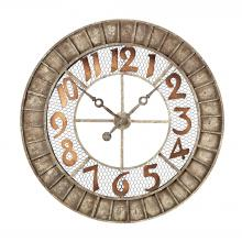 Sterling Industries 128-1001 - Round Metal Outdoor Wall Clock In Antique Cream
