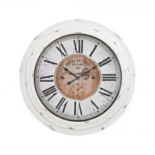 Sterling Industries 351-10246 - Theodore Wall Clock In Antique White