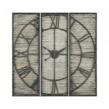 Sterling Industries 351-10547 - Tammany Square Triptych Wall Clock