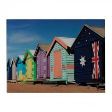Sterling Industries 51-10122 - Beach Hut-Beach Hut Image Printed On Glass