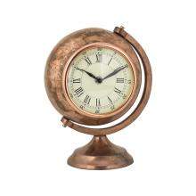 Sterling Industries 8984-024 - Table Top Clock Globe In Antique Copper