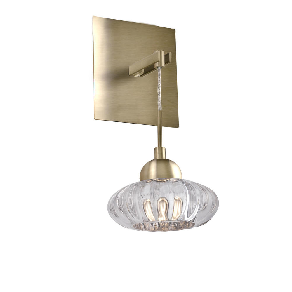Lantern Led Wall Sconce With Die-Cast Clear Glass