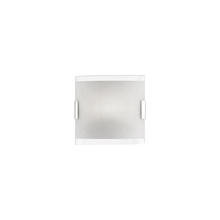Kuzco Lighting Inc VL0607-CH - Single LED Vanity with Curved Square Shaped White Opal Glass