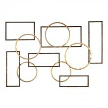 Uttermost 04062 - Uttermost Elias Bronze And Gold Wall Art