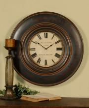 "Uttermost 06724 - Uttermost Adonis 24"" Wooden Wall Clock"