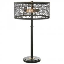 Uttermost 26131-1 - Uttermost Alita Black Drum Shade Lamp