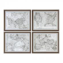Uttermost 33639 - Uttermost World Maps Framed Prints S/4