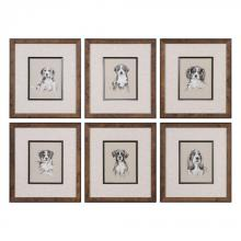 Uttermost 33665 - Uttermost Small Breed Sketch Prints S/6