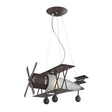 ELK Lighting 5084/1 - Novelty 1 Light Bi Plane Pendant In Walnut And S