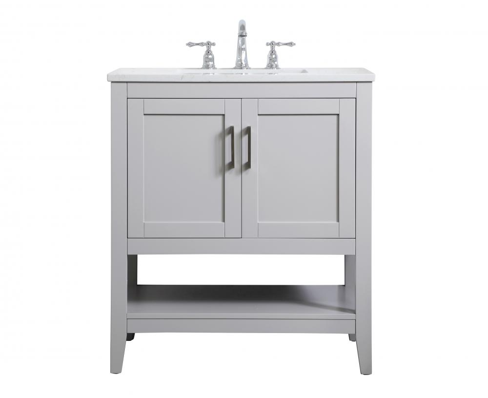 30 Inch Single Bathroom Vanity In Grey