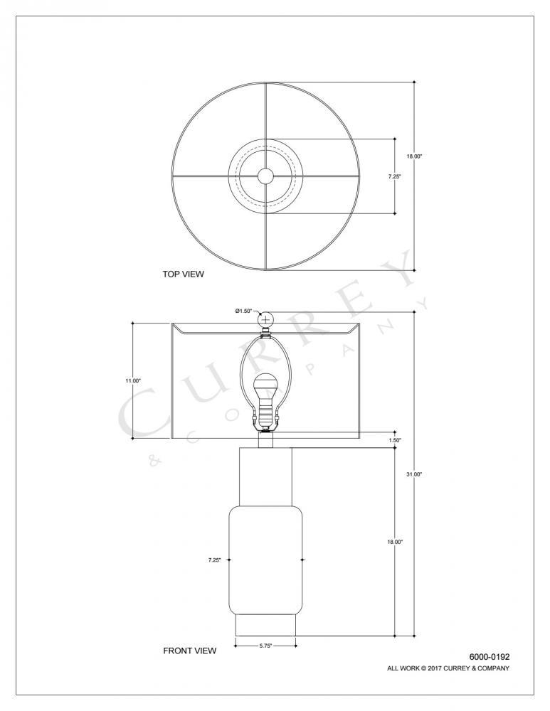 Janeen Table Lamp Orange 6000 0192